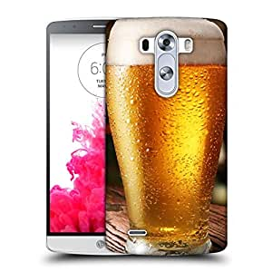 Snoogg Cool Beer Designer Protective Back Case Cover For LG G3 STYLUS