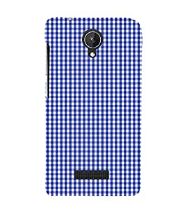 Blue Checks Pattern Cute Fashion 3D Hard Polycarbonate Designer Back Case Cover for Micromax Canvas Spark Q380
