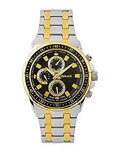 OMAX Men's Analog Multifunction Watch Black - SS538