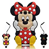 Samsung Galaxy S3 i9300 SIII Disney Minnie 3D Cute Doll Soft Silicone Case + 3D Cute Minnie Touch Pen.