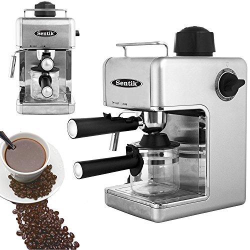 Sentik Professionnel Espresso Cappuccino Machine À Café Cafetière Maison - Bureau - Argenté