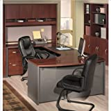 Bush Furniture Hansen Cherry Corsa Series U-Shaped Office Set with Hutch