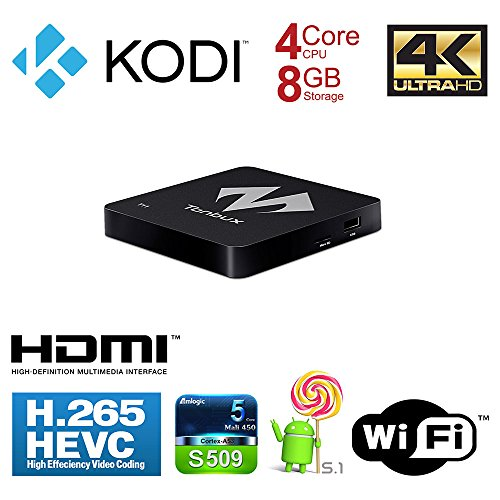 Android-TV-Box-KODI-Fully-Loaded-4K-Ultra-HD-Android-Box-TV-Box-Tonbux-T11-Amlogic-S905-Quad-Core-Streaming-Media-Player-DDR3-1GB-Memory-and-8GB-Storage-Android-51-WiFi-Kodi-Box