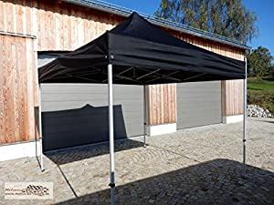 zelt event pavillon falt pavillon schwarz 3x3 meter mit stahlger st sport freizeit. Black Bedroom Furniture Sets. Home Design Ideas