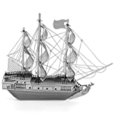Electronictechcrafts® 3D Metal Model Toys- Black Pearl Pirate Ship- DIY 3d Laser Cut Models Puzzle
