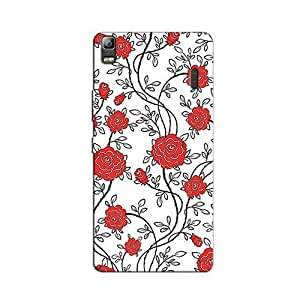 RED COLORFUL PATTERN BACK COVER FOR LENOVO K3 NOTE