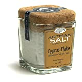 Cyprus Flake Mediterranean Gourmet Sea Salt in Glass Jar with Cork - 4.0 oz