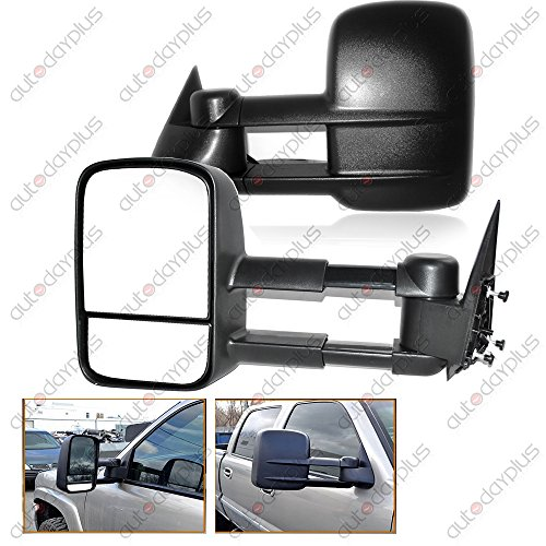 Spec-D Tuning RMX-C1088-M-FS Chevrolet Chevy C10 Pick Up Truck Manual Side Towing Mirrors Black (1995 Gmc Yukon Tow Mirrors compare prices)