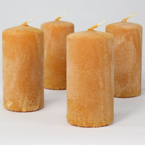 pillar-candles-flannel-100-50mm-honey-set-of-4