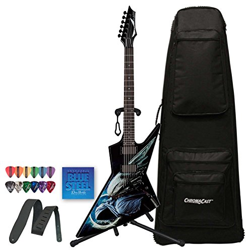 Dean Guitars Dave Mustaine Zero Angel Of Deth Ii (Aodii) Electric Guitar With Guitar Stand, Strap, Strings, Pick Sampler & Case