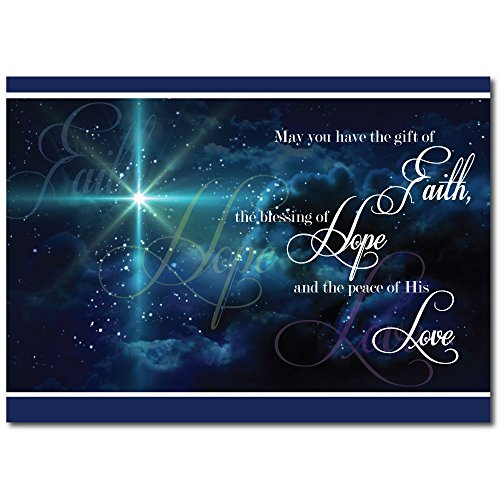 christian christmas greeting card h1503 the spirit and peace of christs love is projected on - Christian Greeting Cards