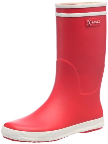 Aigle Lolly Pop - Stivali da Pioggia Unisex - Bambini, Rosso (Rouge/Blanc)