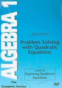 Problem Solving Quadratic Functions