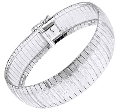 Tuscany Silver Large Diamond Cut Cubbetto Bracelet 19cm/7.5""