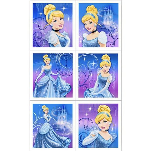 Disney Cinderella Sparkle Sticker Sheets (4 count) Party Accessory