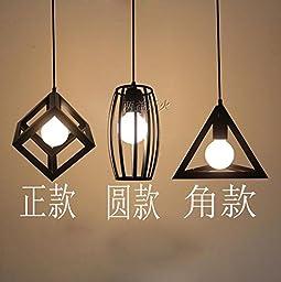 Winson Stylish design Elegant Vintage Style Pendant ceiling Light Shade Stylish Pendant LightsThe Nordic retro , iron chandeliers are rounded) + +) Corner of long white Disc Combo