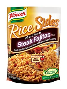 Knorr Rice Sides, Steak Fajitas, 5.3-Ounce (Pack of 12)