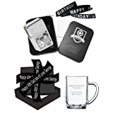 Personalised Lighter & Glass Tankard Gift Set, Engraved Photo STAR Windproof Lighter & A Personalised Text Engraved Large Glass Tankardby A1 PERSONALISED GIFTS