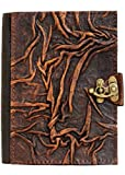 Vintage Style Plain Wrinkled Brown Handmade Leather Amazon Kindle Cover Case For Kindle Touch - Kindle 4 - Kindle 5 - Kindle Paperwhite