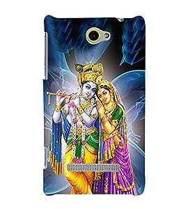 Radha Krishna Cute Fashion 3D Hard Polycarbonate Designer Back Case Cover for HTC Windows Phone 8S :: HTC 8S