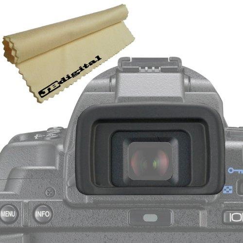 Camera Viewfinder Eyepiece / Eyecup For Olympus (E-3 E-30 E-300 E-330 E-400 E-410 E-420 E-450 E-500 E-510 E-520 E-620) + Super Fine Jb Digital Microfiber Cleaning Cloth