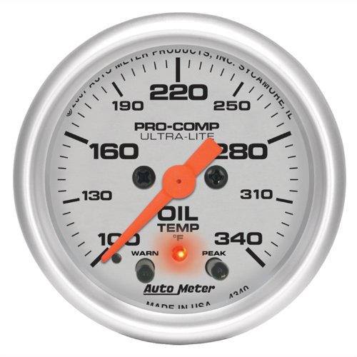 Auto Meter 4340 Ultra-Lite Electric Oil Temperature Gauge