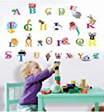 Walplus Kids Cute Alphabet London Home Nursery Children Girls Room Wall Stickers Paper