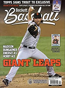 Current Beckett Baseball Monthly Magazine Price Guide Values January 2015 Madison Bumgarner Giant Leaps Giants Cover 074470957904