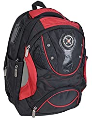 Liberty BAGS Polyester 25 Liters Black And Red School Backpack - B01JP69SPM