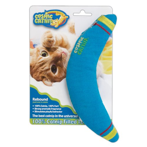 Good OurPets 100-Percent Catnip Filled Boomerang Cat Toy, Rebound
