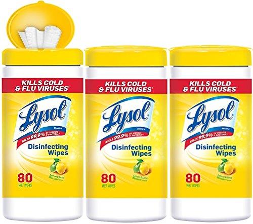 Lysol Disinfecting Wipes Value Pack Lemon Lime Blossom 240