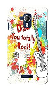 CimaCase Dad You Rock Designer 3D Printed Case Cover For Micromax Canvas Magnus A117