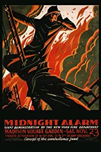 "Firefighter Fireman Midnight Alarm Madison Square Garden New York Fire Department 20"" X 30"" Image Size Vintage Poster Reproduction , We have other sizes available !"