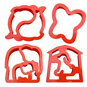 Lunch Punch Animal Shape Sandwich Cutters (Set of 4)