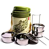 4 Container Milton Insulated Hot Lunch Pack Tiffin Dabba Box Home Picnic - 18
