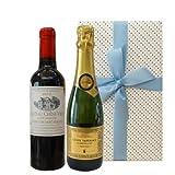 スパークリングワインのギフトセット ハーフサイズ ボルドー赤ワイン 2010年 375ml フランスのスパークリング 375ml 2本セット 箱入り