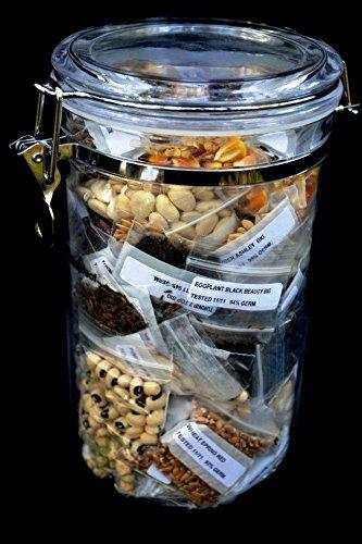 Organic 100% Heirloom Vegetable Fruit, Herbs, Seeds, 62 Varieties, Huge Seed Supply Non-gmo, Non-hybrid 505,000 Seeds!