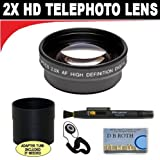 2x Digital Telephoto Professional Series Lens + Lens Adapter Tube (If Needed) + Lenspen + Lens Cap Keeper + Smart Shop Micro Fiber Cloth For The Olympus OM-D E-M1, PEN E-P5 Digital SLR Camera Which Has The ZUIKO Digital ED 14-42mm