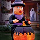 8 Ft Tall Giant Inflatable Lighted Witch Moves Arm Cauldron Halloween Haunted House Prop Yard Outdoor Decoration
