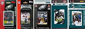 NFL Philadelphia Eagles 5 Different Licensed Trading Card Team Sets by C&I Collectables