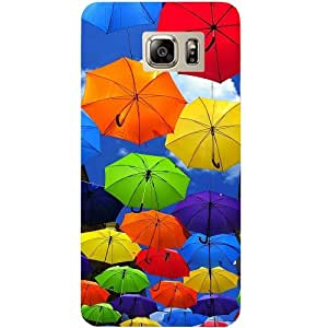 Casotec Colorful Umbrellas Design Hard Back Case Cover For Samsung Galaxy Note 5