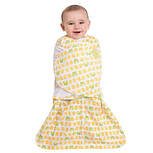 HALO SleepSack Swaddle 100% Cotton - Duck Frog Newborn