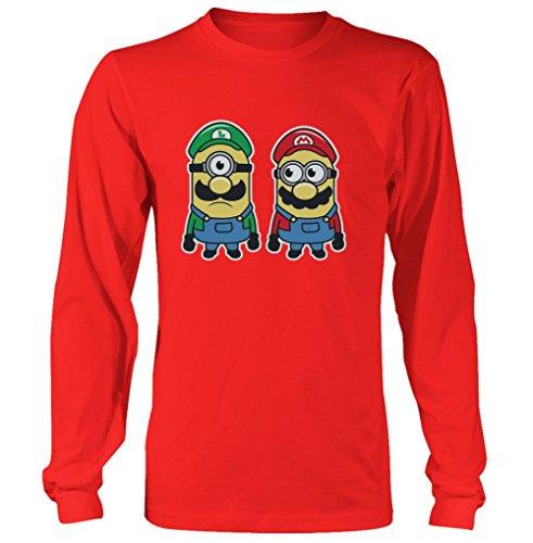 Super Mario Bros Minions Mario Luigi Mens & Womens long sleeve shirt (Super Mario 74 compare prices)