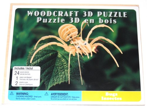Woodcraft Wooden 3D Puzzle, Leaf Spider (1 Each)