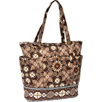Hot Sale Vera Bradley Go Round Tote (Canyon)