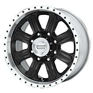"American Racing Fuel 8 AR321 Gloss Black Wheel with Machined Lip (17x8""/6x135mm)"