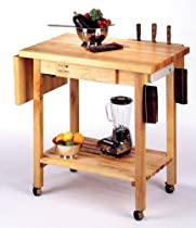 Hot Sale Kitchen Culinary Cart w 12 in. Drop Leaf