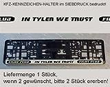Fight Club - In Tyler we trust KFZ-Kennzeichen Nummernschild Halter (Liefermenge 1 Stück!!! - ggf. 2 erwerben)