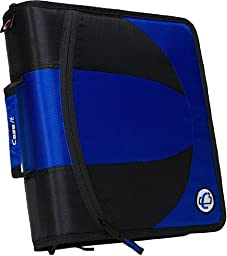 Case-it 2-in-1 Zipper D-Ring Binder, Blue (DUAL-101-BLU)