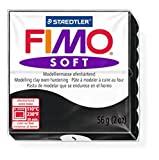 10 x STAEDTLER Black (9) FIMO Soft Polymer Modelling Moulding Clay Block Colour 56g